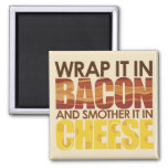 Bacon & Cheese, PLEASE! Refrigerator Magnets