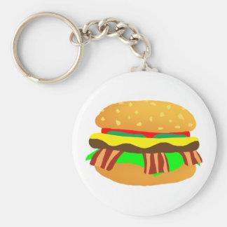 Bacon Cheeseburger Keychain