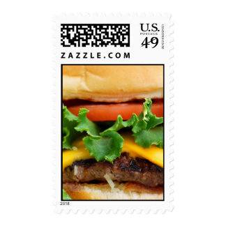 Bacon Cheeseburger Postage Stamp