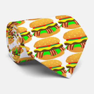 Bacon Cheeseburger Tie
