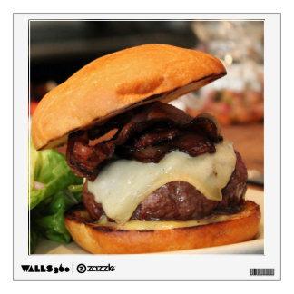 Bacon Cheeseburger wall decal
