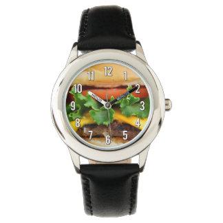 Bacon Cheeseburger Wristwatches