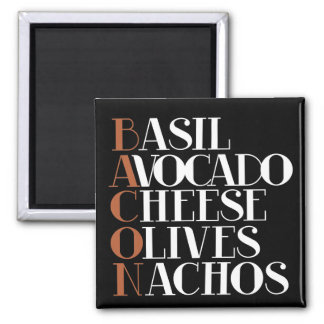 Bacon Chef Gourmet 2 Inch Square Magnet
