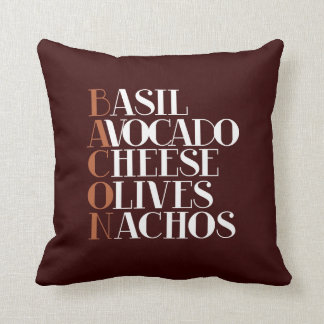 Bacon Chef Gourmet Throw Pillow