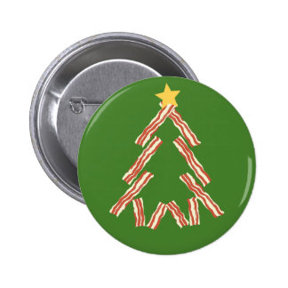 Bacon Christmas Tree 2 Inch Round Button