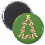 Bacon Christmas Tree 2 Inch Round Magnet