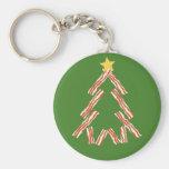 Bacon Christmas Tree Key Chains
