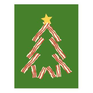 Bacon Christmas Tree Postcard
