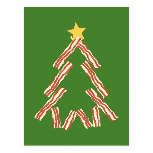 Bacon Christmas Tree Post Card