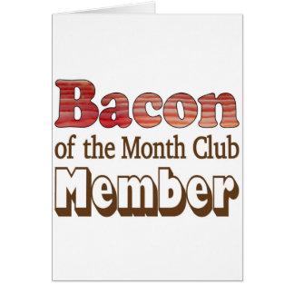 Bacon Club Member Greeting Card