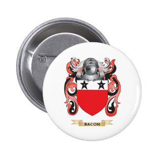 Bacon Coat of Arms (Family Crest) 2 Inch Round Button