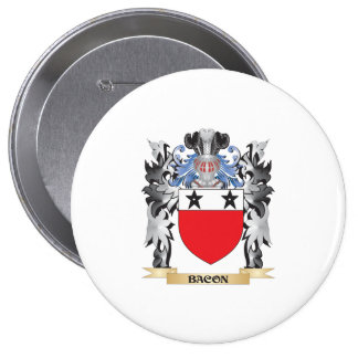 Bacon Coat of Arms - Family Crest 4 Inch Round Button