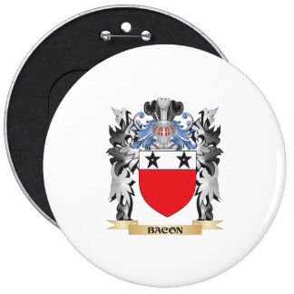 Bacon Coat of Arms - Family Crest 6 Inch Round Button