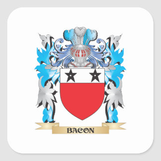 Bacon Coat of Arms Stickers