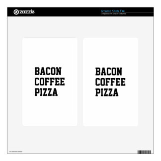 Bacon Coffee Pizza Skins For Kindle Fire