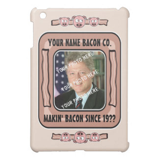 Bacon Company Customizable (YOUR NAME and PHOTO) Cover For The iPad Mini