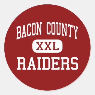 Bacon County - Raiders - High - Alma Georgia Classic Round Sticker