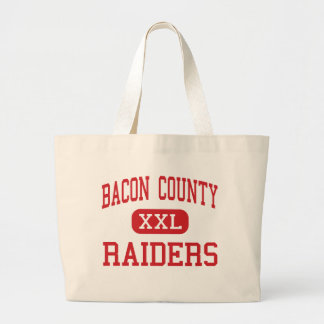 Bacon County - Raiders - High - Alma Georgia Jumbo Tote Bag