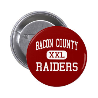 Bacon County - Raiders - Middle - Alma Georgia 2 Inch Round Button