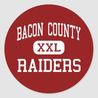 Bacon County - Raiders - Middle - Alma Georgia Classic Round Sticker