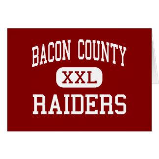 Bacon County - Raiders - Middle - Alma Georgia Greeting Card