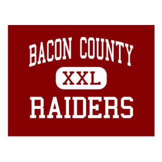 Bacon County - Raiders - Middle - Alma Georgia Postcard
