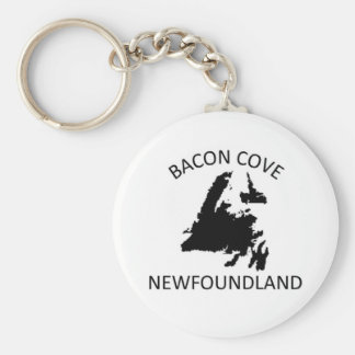 Bacon Cove Basic Round Button Keychain