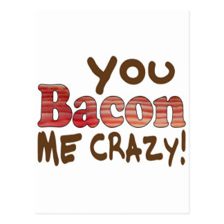 Bacon Crazy Postcard