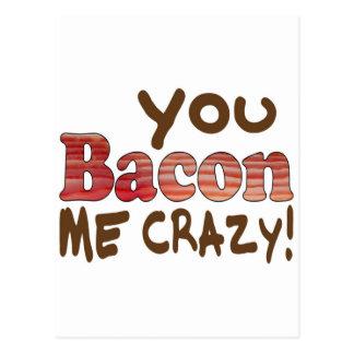 Bacon Crazy Post Card