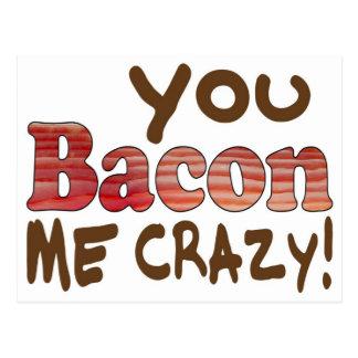Bacon Crazy Postcard