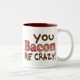 Bacon Crazy Two-Tone Coffee Mug