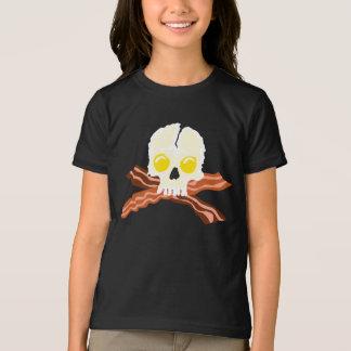 Bacon Crossbones Eggs Skull T-Shirt