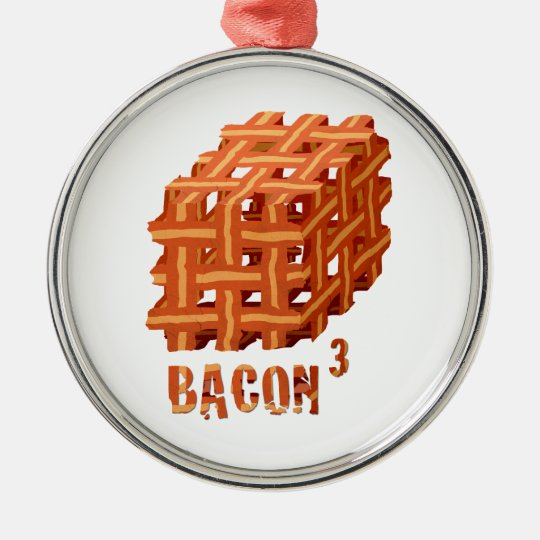 Bacon Cubed Metal Ornament