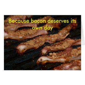 Bacon Day card