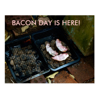 BACON DAY IS HERE! invotations Postcard