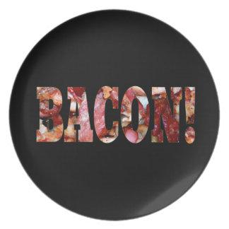 BACON! DINNER PLATE