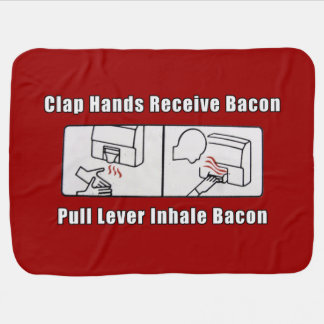 Bacon Dispenser horizontal Receiving Blanket