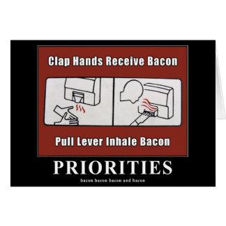 Bacon Dispenser Motivational Card