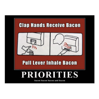 Bacon Dispenser Motivational Postcard