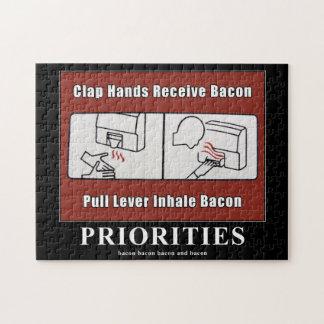 Bacon Dispenser Motivational puzzle