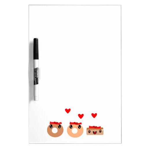 Bacon Donut Dry Erase Whiteboards