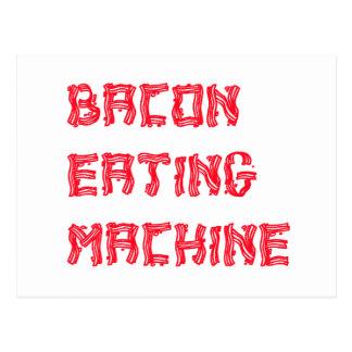 Bacon Eating Machine Postcard