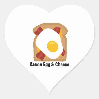 Bacon & Egg Heart Sticker