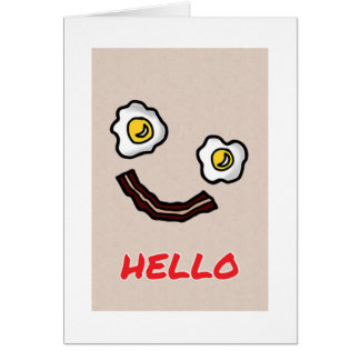 BACON/EGGS HUMOR FOR SOMEONE SPECIAL MOTHERS DAY GREETING CARD
