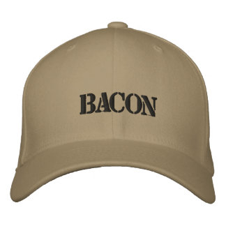 BACON EMBROIDERED BASEBALL HAT