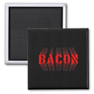 Bacon Fade 2 Inch Square Magnet