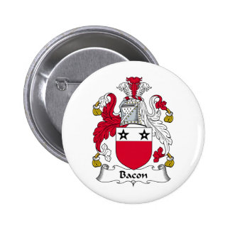 Bacon Family Crest 2 Inch Round Button