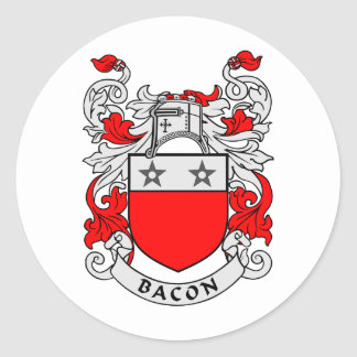 Bacon Family Crest Classic Round Sticker
