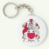 Bacon Family Crest Keychain