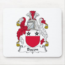 Bacon Family Crest Mousepad